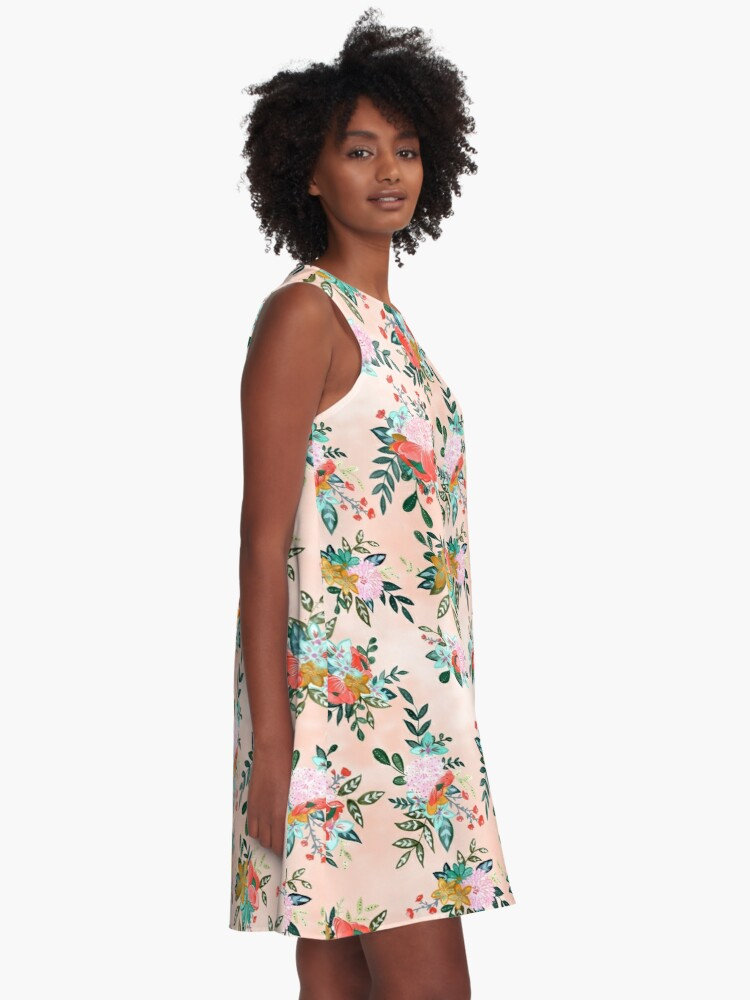 Alternate view of Bouquet Bursts A-Line Dress