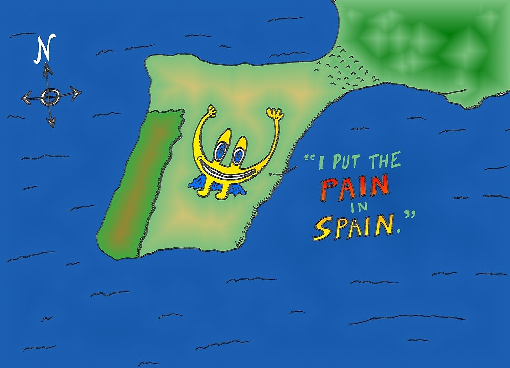 Binary options news cartoon Euroman puts the pain in Spain by Binary-Options