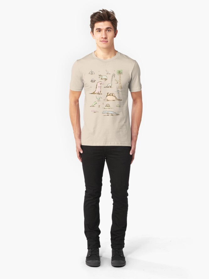 Alternate view of Dinosaurs Slim Fit T-Shirt