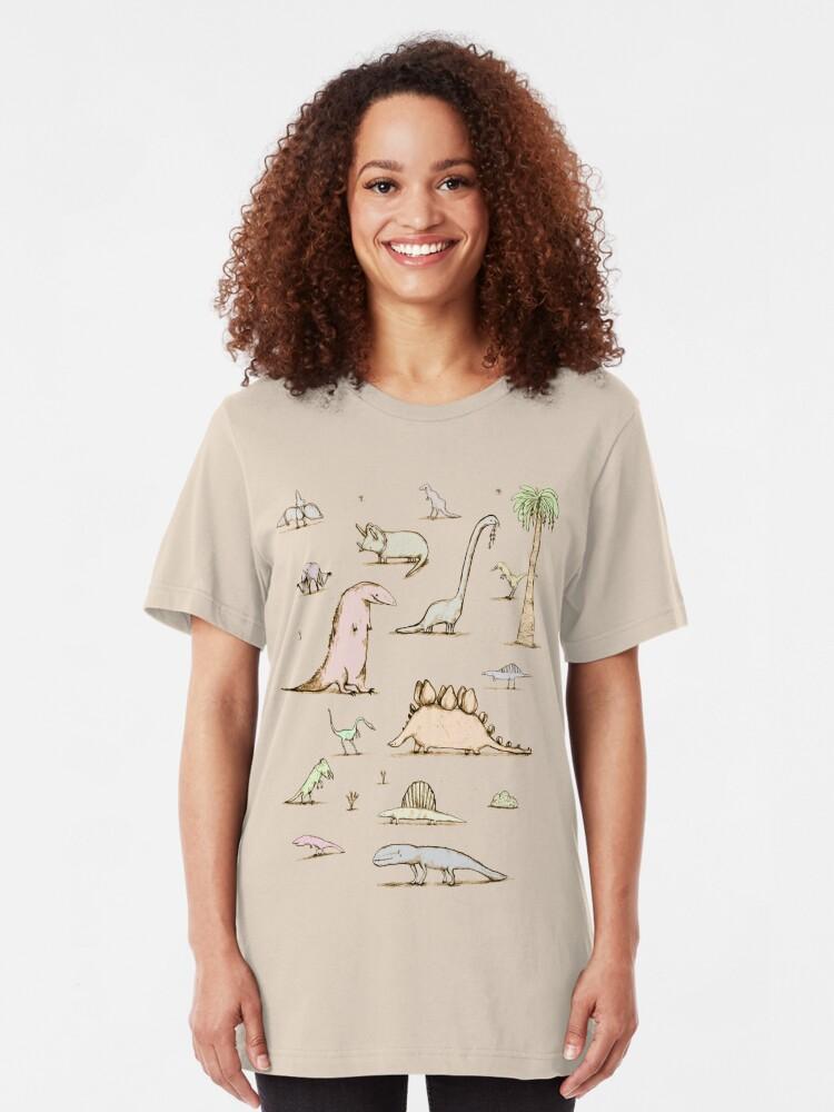 Alternate view of Dinosaurs Slim Fit T-Shirt