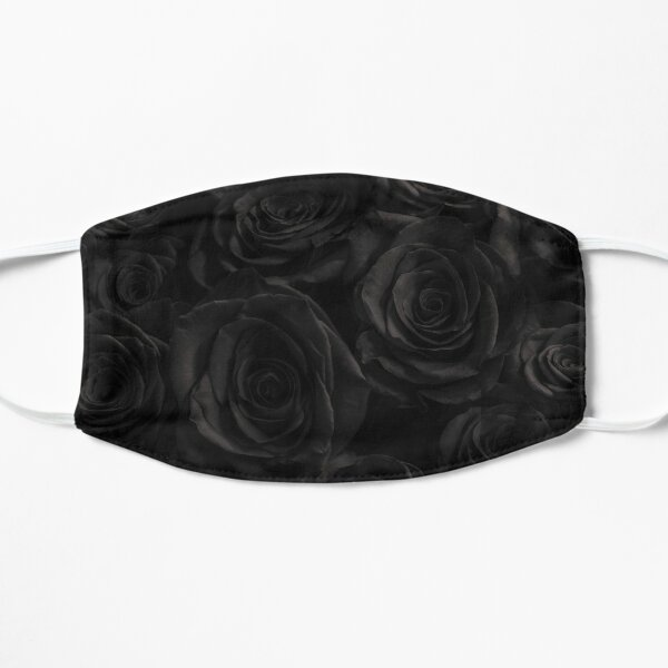 Black Bouquet of Roses Flat Mask