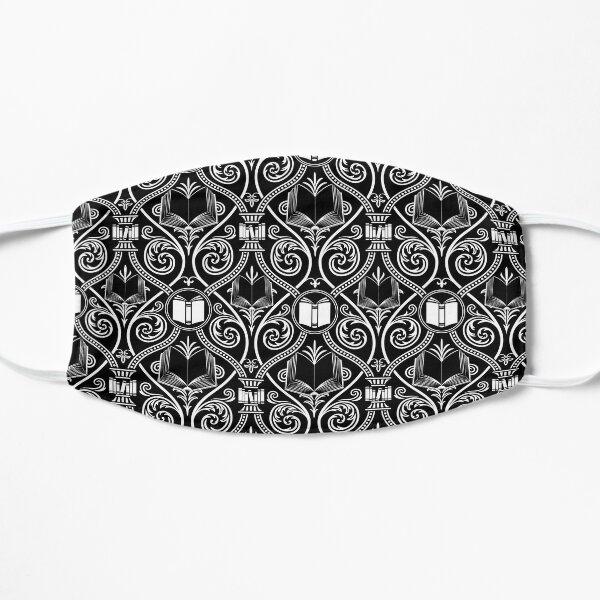 Bibliophile Damask (B&W) Flat Mask