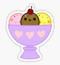 Kawaii ice cream Sticker