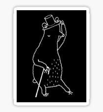 Dapper Bear Sticker