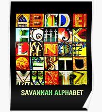 Savannah Alphabet - Bright Poster