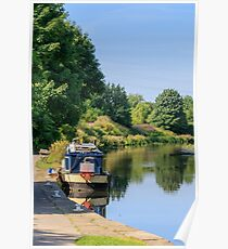 barge on the canal  Poster