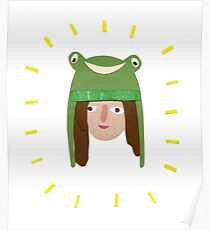 Self Portrait in Frog Hat Poster