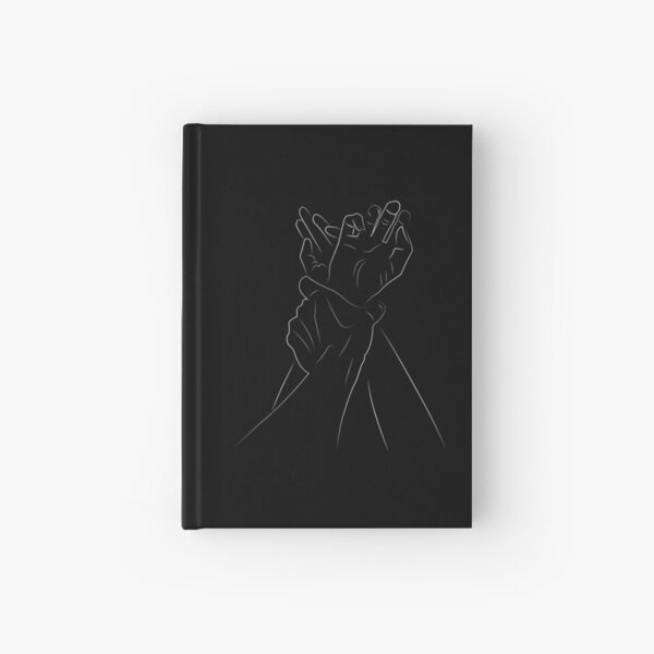 Pin Me Down  Couple Line Art Illustrations Hardcover Journal