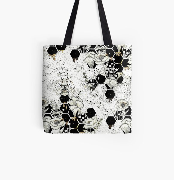 Space Bee All Over Print Tote Bag