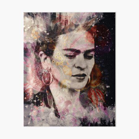 FRIDA KAHLO Mexican Feminist portrait painting Art Board Print
