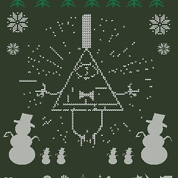 Gravity Falls Ugly Christmas Sweater Print by TumblrVerse