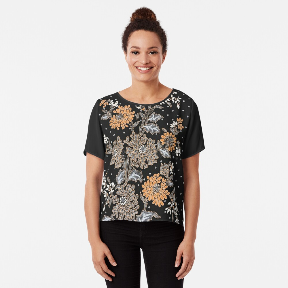Indonesian Batik Sarong Chiffon Top