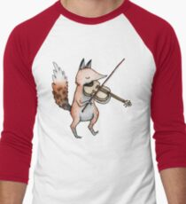 Violin Fox Men's Baseball ¾ T-Shirt