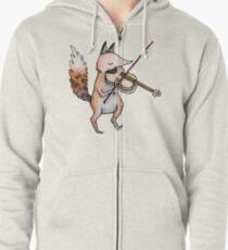 Violin Fox Zipped Hoodie