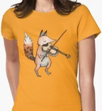 Violin Fox Women's Fitted T-Shirt
