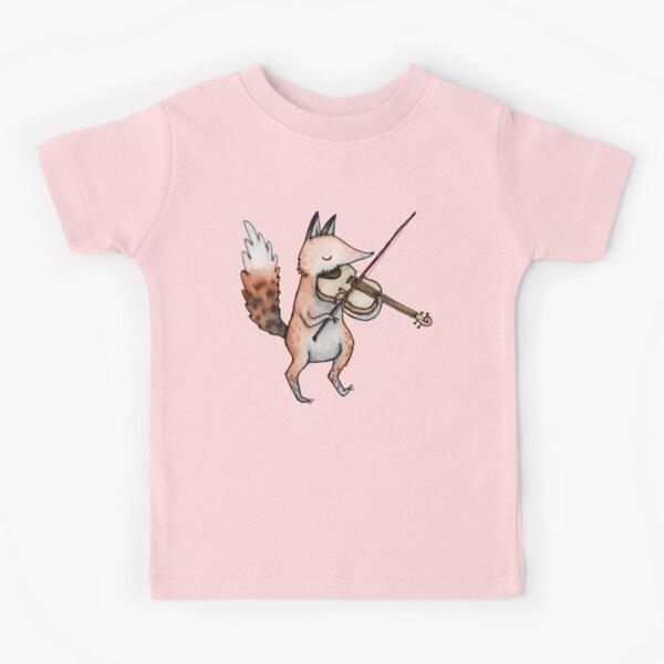 Violin Fox Kids T-Shirt