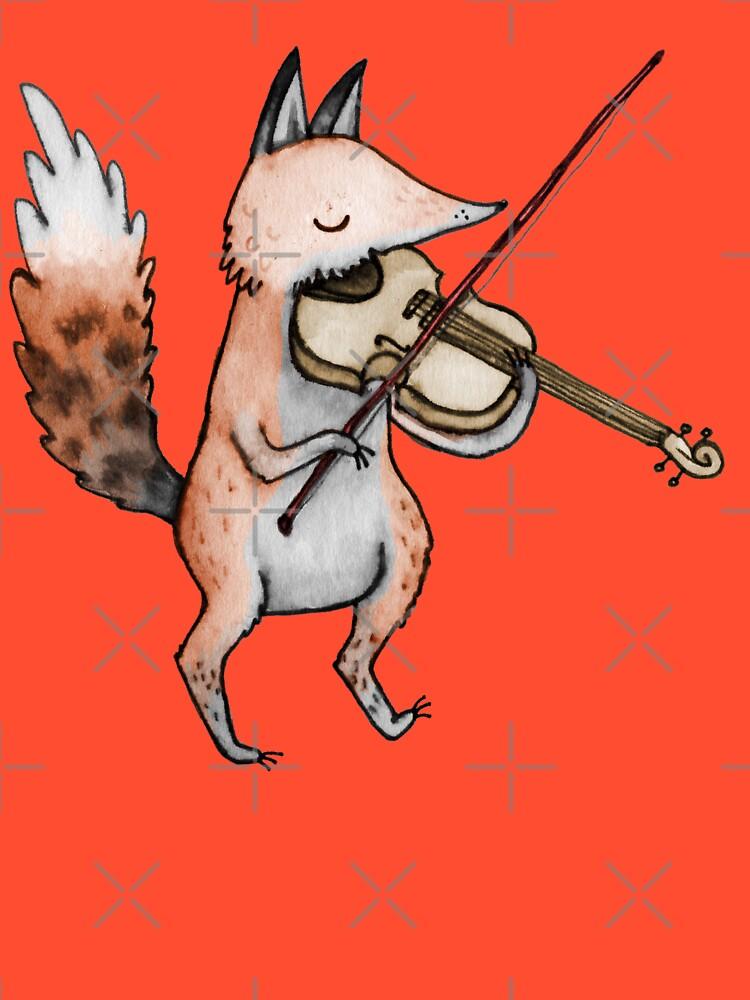Violin Fox by SophieCorrigan