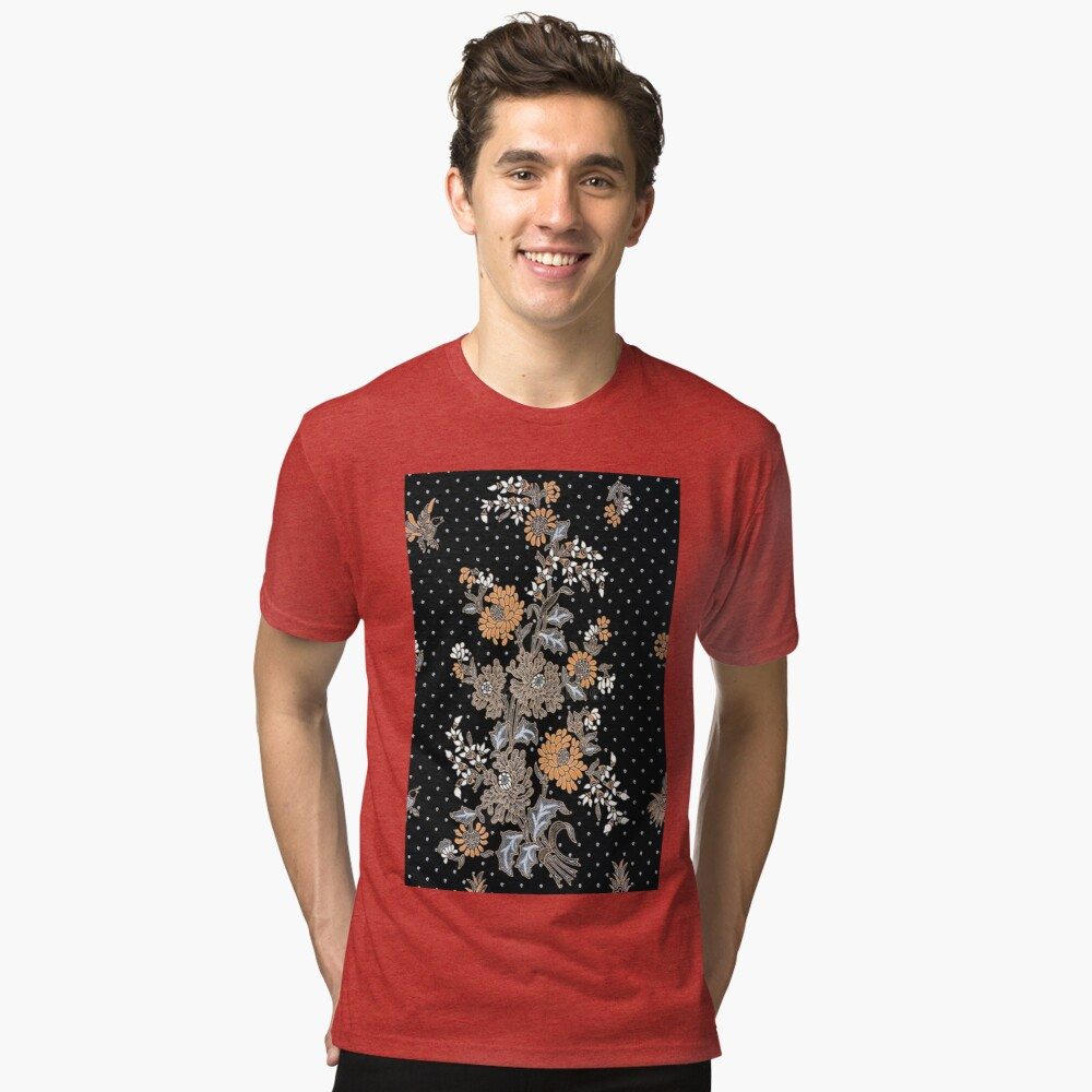 Indonesian Batik Sarong Tri-blend T-Shirt