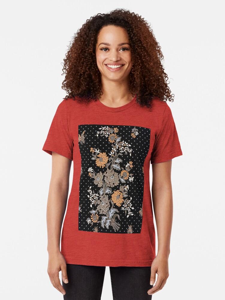 Alternate view of Indonesian Batik Sarong Tri-blend T-Shirt