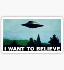 I want to believe  - Funny sayings Sticker