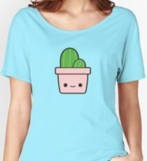 Cactus in cute pot Women's Relaxed Fit T-Shirt