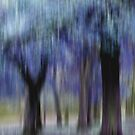 Group of Trees in Motion - blue by KUJO-Photo