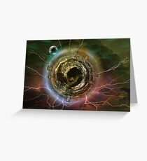 Little Night Planet Greeting Card