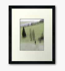 Winter Walk (green), Fischbacher Alps, Austria Framed Print