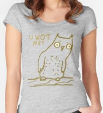 Confused Owl Women's Fitted Scoop T-Shirt