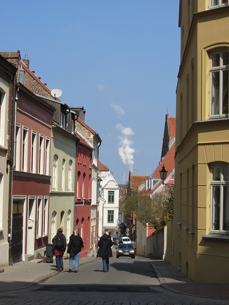 Street Scene, Wismar, Germany by thewinternet
