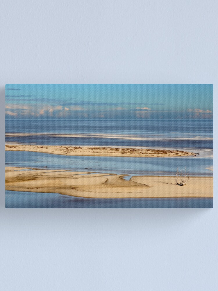 Alternate view of Snowy Meets the Sea Canvas Print