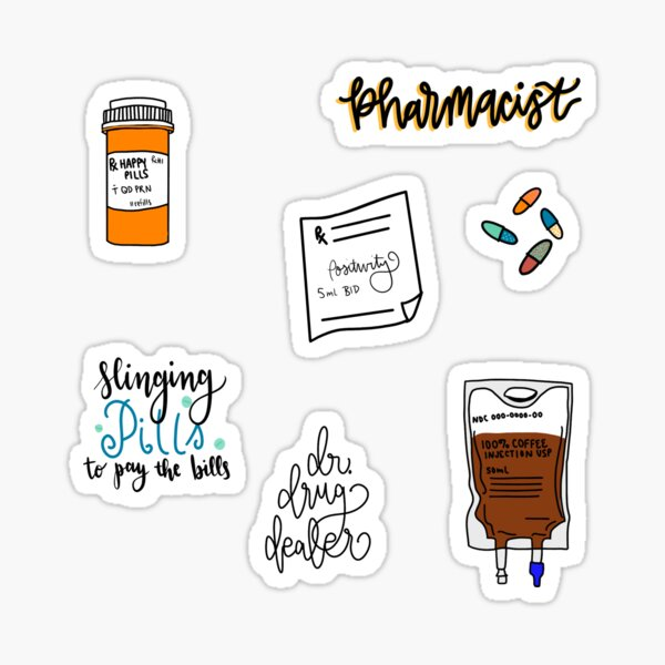 Pharmacist sticker pack  Sticker
