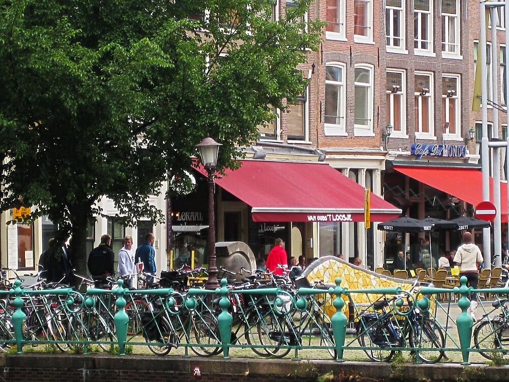 Amsterdam - Bikes and Cafes by John Brady