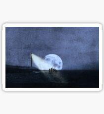 Across The Sea A Pale Moon Rises Sticker