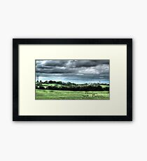 HDR Country landscape Framed Print