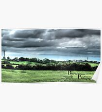 HDR Country landscape Poster