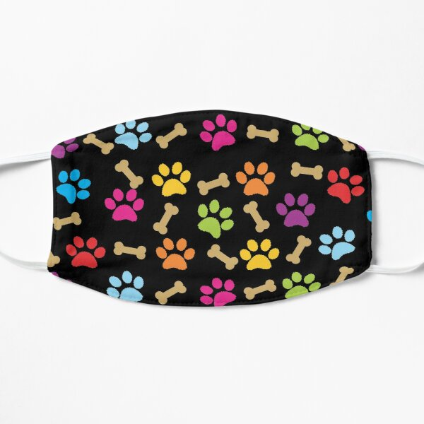 Paw Print Dog Pattern Colorful Mask