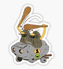 Captain Caveman Car Sticker