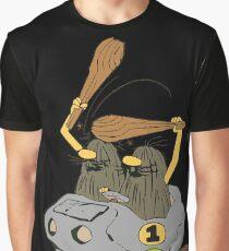 Captain Caveman Car Graphic T-Shirt