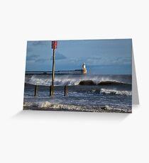 Windswept seascape Greeting Card