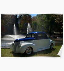 1938 Ford Custom Coupe Hot Rod Poster