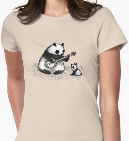 Banjo Panda Womens Fitted T-Shirt