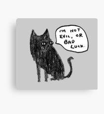 Black Cats Aren't Evil Canvas Print