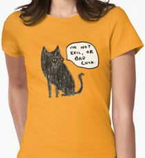 Black Cats Aren't Evil Womens Fitted T-Shirt