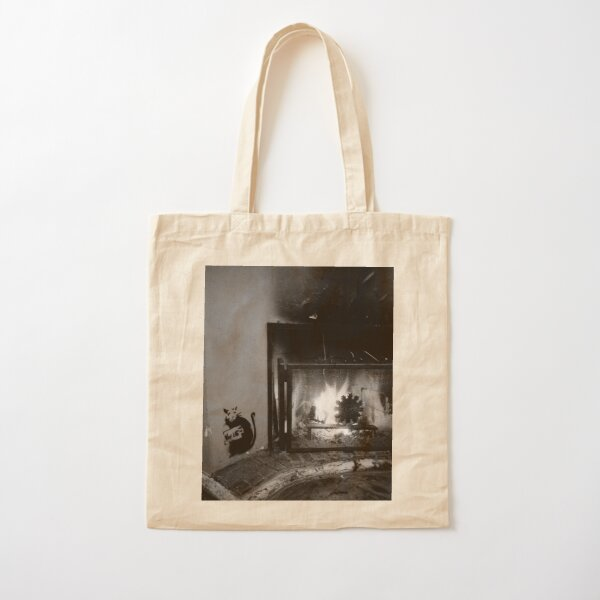 Banksy was here, maybe I lie Cotton Tote Bag