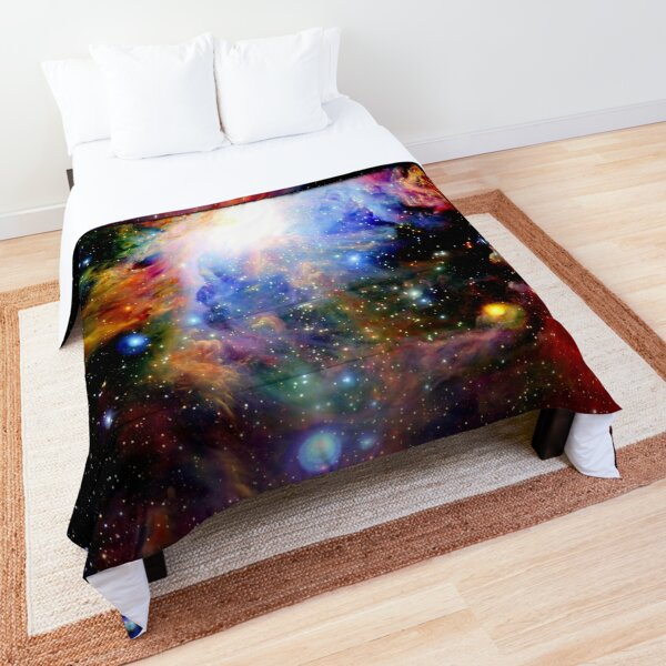 Galaxy Dark & Colorful Orion Nebula Comforter