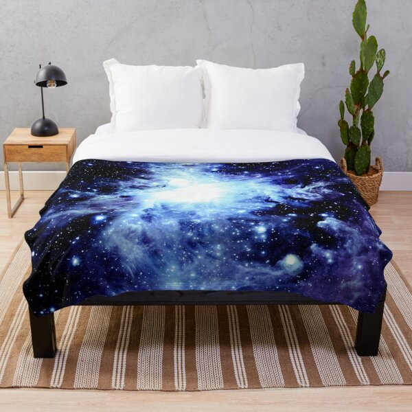 Galaxy Blue Indigo Orion Nebula Throw Blanket