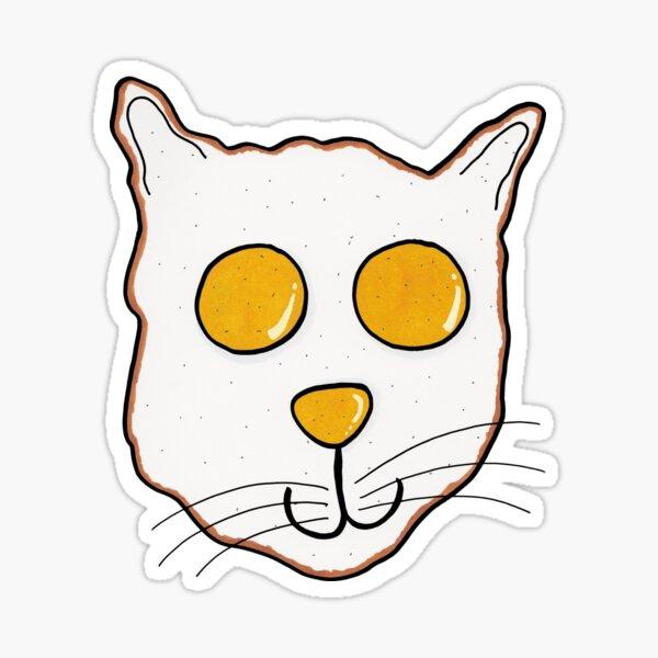 Fried Egg Cat Sticker