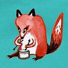 Drumming Fox by Sophie Corrigan