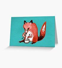 Drumming Fox Greeting Card